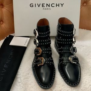 Givenchy Prue Elegant Studded Leather Boot 6 NWT